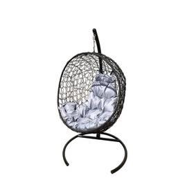 "Подвесное кресло кокон ""Луна"" ротанг с подушкой, фото"