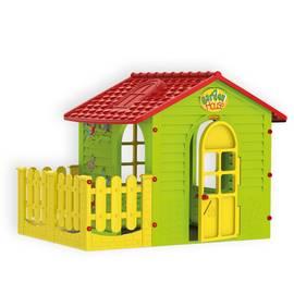 Детский игровой Домик с забором Mochtoys 10839, фото