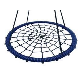 Качели - гнездо BABY-GRAD 115 см (Черно/синий), Диаметр кольца: 115 см, Цвет качелей: Черно/синий, фото