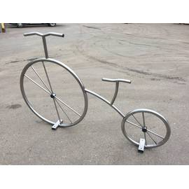 Велопарковка Велосипед декоративный из нержавеющей стали, Материал: Сталь нержавеющая, фото