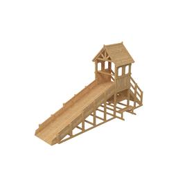 Зимняя деревянная заливная горка Теремок 1 (Без окраски), Покрытие: Без покрытия, фото
