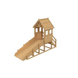 Зимняя деревянная заливная горка Теремок (Без окраски), Покрытие: Без покрытия, фото