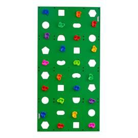 """Скалодром пристенный """"Формула здоровья"""" 1000*2000 стандарт ЭЛЬБРУС с отверстиями зеленый, Цвет стоек: Зеленый, фото"""