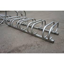 Велопарковка ВП07-1 на 6 мест (VP71) (нержавеющая сталь), Материал: Сталь нержавеющая, фото