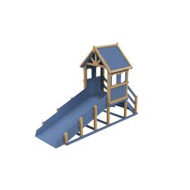 Зимняя деревянная заливная горка Теремок (Покрытие: масло), Покрытие: Атмосферостойкое колеруемое масло Tikkurila, фото