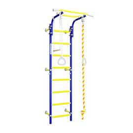 ДСКМ Romana Next Top (01.21.8.06.490.03.00-24) синяя слива, Цвет стоек: Синий, Цвет перекладин: Желтый, фото