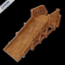Зимняя деревянная горка Урал (покрытие лак и грунт), Покрытие: Грунт, акриловый лак на водной основе, фото