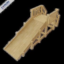 Зимняя деревянная горка Урал (без покрытия), Покрытие: Без покрытия, фото