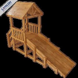 Зимняя деревянная горка Ямал (покрытие масло), Покрытие: Масло, фото