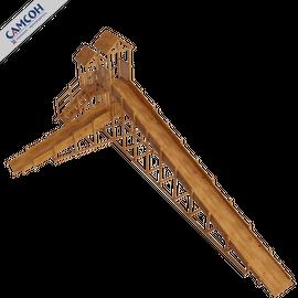 Зимняя деревянная горка ЗИМА (покрытие лак и грунт), Покрытие: Грунт, акриловый лак на водной основе, фото