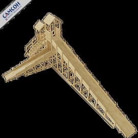 Зимняя деревянная горка ЗИМА (без покрытия), Покрытие: Без покрытия, фото