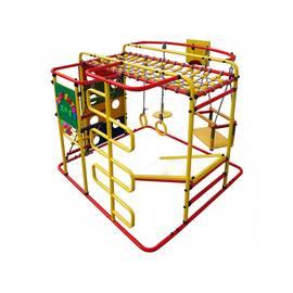 ДСК Формула здоровья Мурзилка S красный/радуга, Цвет стоек: Красный, Цвет у перекладин: Разноцветные, фото
