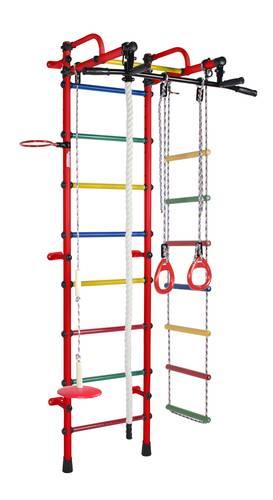 ДСК Формула здоровья Лира красный/радуга, Цвет стоек: Красный, Цвет у перекладин: Разноцветные, фото
