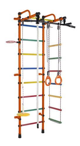 ДСК Формула здоровья Лира оранжевый/радуга, Цвет стоек: Оранжевый, Цвет у перекладин: Разноцветные, фото