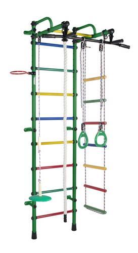 ДСК Формула здоровья Лира зеленый/радуга, Цвет стоек: Зеленый, Цвет у перекладин: Разноцветные, фото