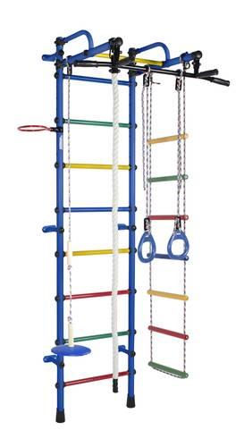 ДСК Формула здоровья Лира синий/радуга, Цвет стоек: Синий, Цвет у перекладин: Разноцветные, фото