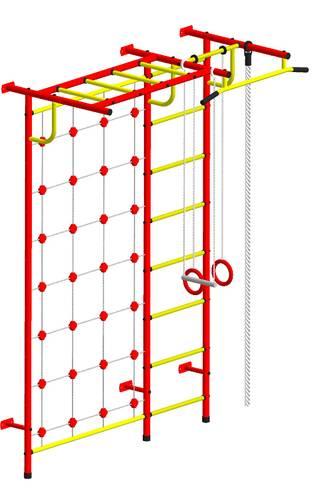 ДСК Пионер - С4СМ красно/жёлтый, Цвет стоек: Красный, Тип перекладин: Металл + ПВХ, фото