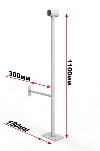 Кронштейн для поручня напольно-настенный однорядный, фото 1