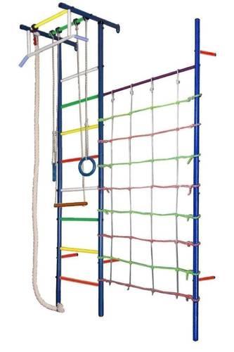 ДСК Вертикаль Юнга № 4.1 синие стойки - разноцветные перекладины, фото