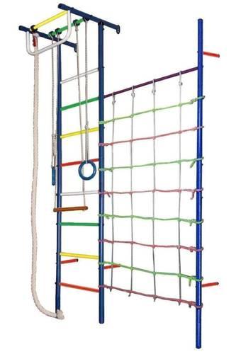 ДСК Вертикаль Юнга № 4 синие стойки - разноцветные перекладины, фото