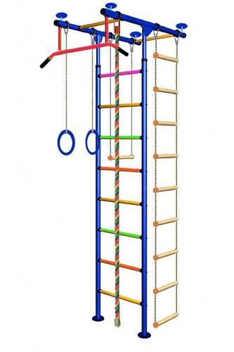 ДСК Вертикаль Юнга № 2.1 синие стойки - разноцветные перекладины, фото 1