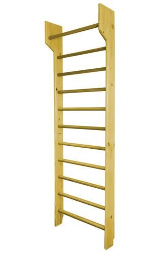 Шведская стенка деревянная из СОСНЫ и БУКА с турником фиксированным, Материал: Бук - клен, Высота стенки: 260 см, Ширина стенки: 80 см, фото