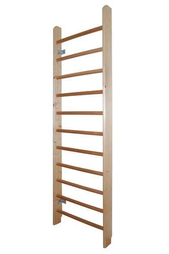 Шведская стенка деревянная из сосны, Материал перекладин: Бук - клен, Высота стенки: 260 см, Ширина стенки: 80 см, фото