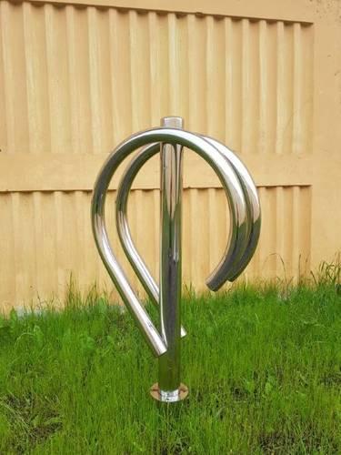 Велопарковка Дабл на 2 велосипеда из нержавеющей стали НОВАЯ, фото