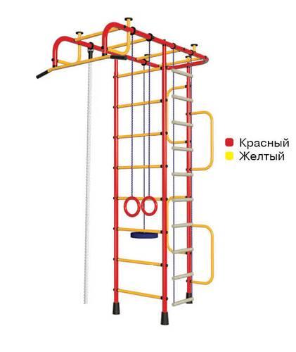 ДСК Пионер 3М красно/жёлтый, Цвет стоек: Красный, Тип перекладин: Металл + ПВХ, фото