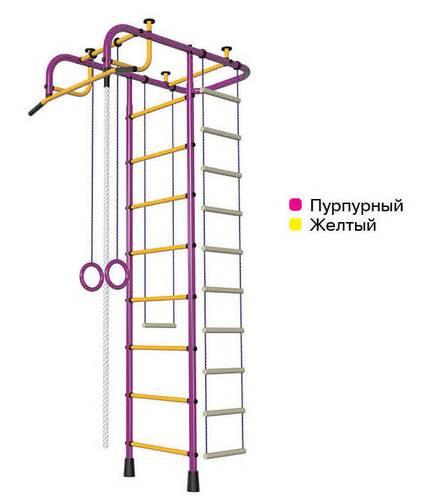 ДСК Пионер АМ пурпурно/жёлтый, Цвет стоек: Пурпурный, Тип перекладин: Металл + ПВХ, фото
