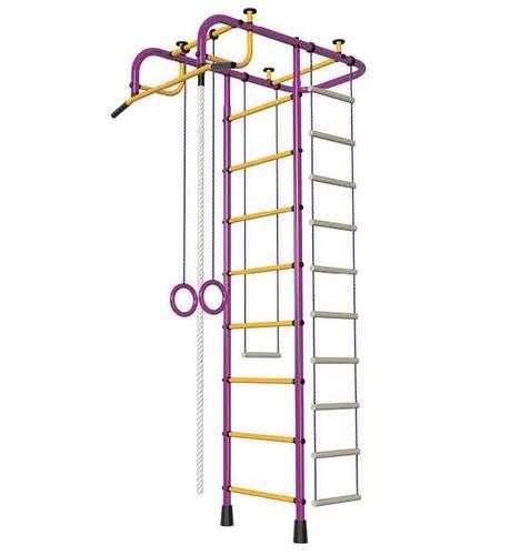 ДСК Пионер М пурпурно/жёлтый, Цвет стоек: Пурпурный, Тип перекладин: Металл + ПВХ, фото