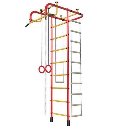 ДСК Пионер красно/жёлтый, Цвет стоек: Красный, Тип перекладин: Металлические, фото
