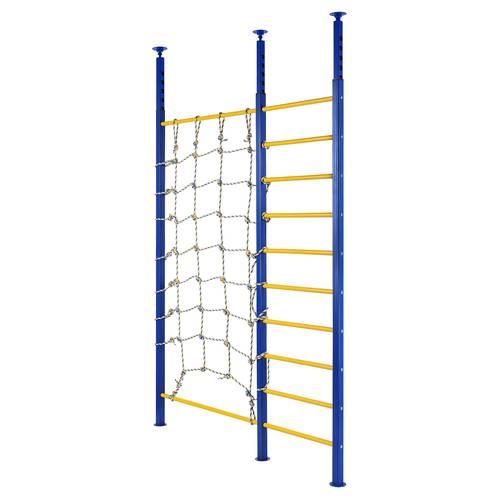 Стенка враспор ПРОФ PR - с сетью для лазанья (сине-желтый), фото