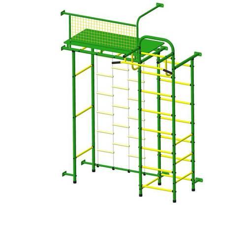 ДСК Пионер 10Л зелёно/жёлтый, Цвет стоек: Зеленый, Тип перекладин: Металлические, фото
