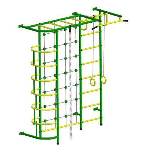 ДСК Пионер - С5СМ зелёно/жёлтый, Цвет стоек: Зеленый, Тип перекладин: Металл + ПВХ, фото