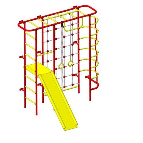 ДСК Пионер - С7С красно/жёлтый, Цвет стоек: Красный, Тип перекладин: Металлические, фото