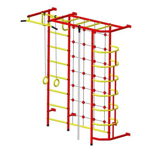 ДСК Пионер - С5С красно/жёлтый, Цвет стоек: Красный, Тип перекладин: Металлические, фото