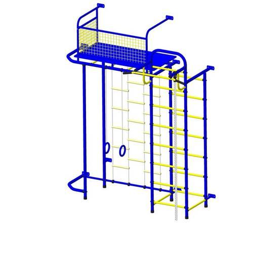 ДСК Пионер - С6ЛМ сине/жёлтый, Цвет стоек: Синий, Тип перекладин: Металл + ПВХ, фото