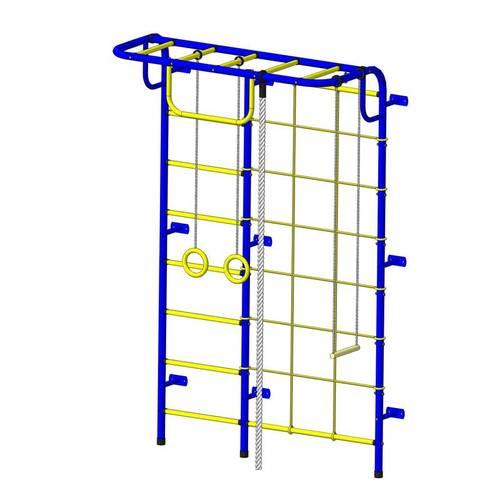 ДСК Пионер - С104М сине/жёлтый, Цвет стоек: Синий, Тип перекладин: Металл + ПВХ, фото