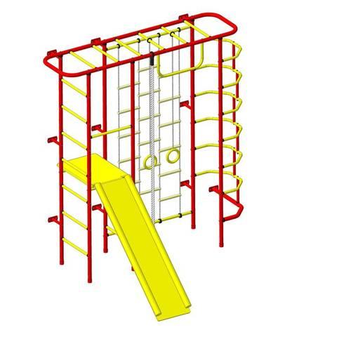 ДСК Пионер - С7Л красно/жёлтый, Цвет стоек: Красный, Тип перекладин: Металлические, фото