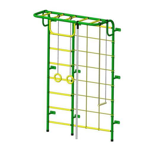 ДСК Пионер - С104 зелёно/жёлтый, Цвет стоек: Зеленый, Тип перекладин: Металлические, фото