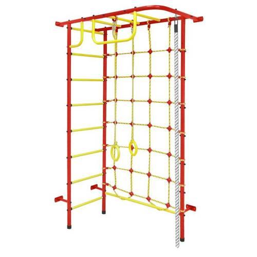 ДСК Пионер 8 красно/жёлтый, Цвет стоек: Красный, Тип перекладин: Металлические, фото