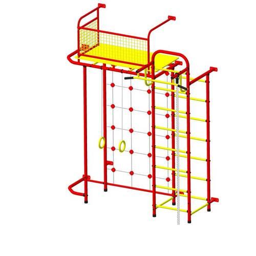 ДСК Пионер - С6С красно/жёлтый, Цвет стоек: Красный, Тип перекладин: Металлические, фото