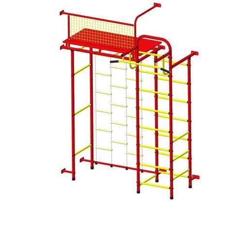 ДСК Пионер 10Л красно/жёлтый, Цвет стоек: Красный, Тип перекладин: Металлические, фото