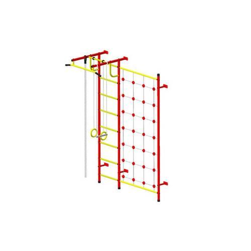 ДСК Пионер - С3С красно/жёлтый, Цвет стоек: Красный, Тип перекладин: Металлические, фото