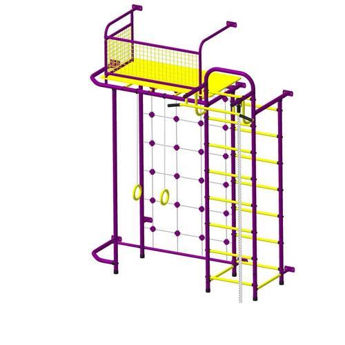 ДСК Пионер - С6СМ пурпурно/жёлтый, Цвет стоек: Пурпурный, Тип перекладин: Металл + ПВХ, фото