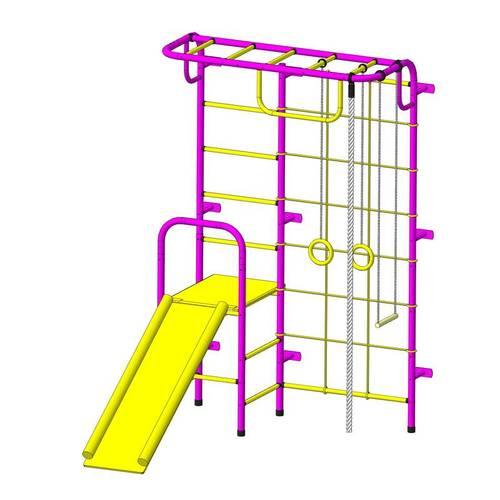 ДСК Пионер - С107М пурпурно/жёлтый, Цвет стоек: Пурпурный, Тип перекладин: Металл + ПВХ, фото