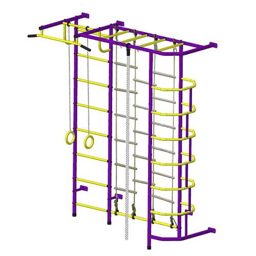 ДСК Пионер С5Л пурпурно/жёлтый, Цвет стоек: Пурпурный, Тип перекладин: Металлические, фото