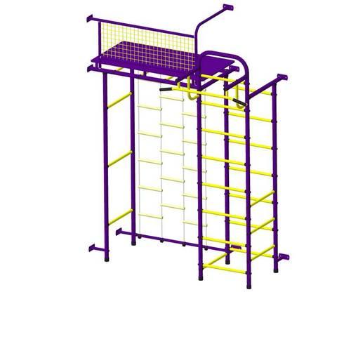ДСК Пионер 10ЛМ пурпурно/жёлтый, Цвет стоек: Пурпурный, Тип перекладин: Металл + ПВХ, фото
