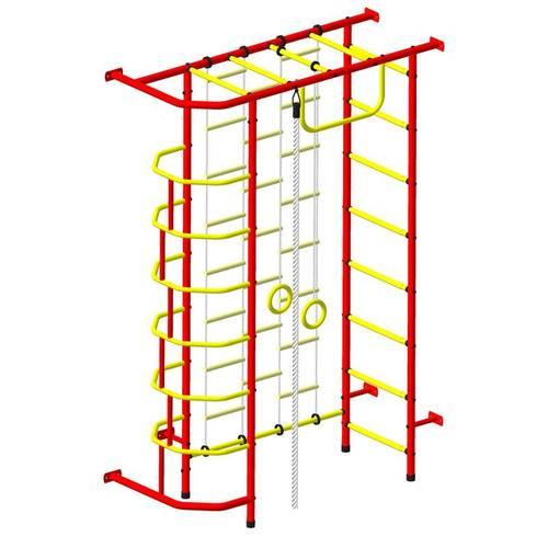 ДСК Пионер 9Л красно/жёлтый, Цвет стоек: Красный, Тип перекладин: Металлические, фото